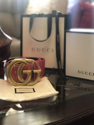 Wide Red Gucci Belt Size 42 Inches for Sale in Chicago, IL