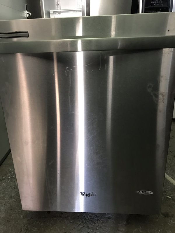 Like New-whirlpool stainless dishwasher $200