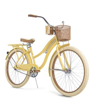 """Huffy, Nel Lusso Classic Cruiser Bike with Perfect Fit Frame, Women's Yellow 26"""" for Sale in Rowlett, TX"""
