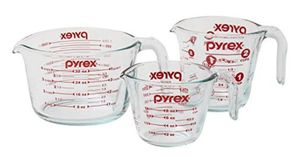 Pyrex glass 3 piece measuring cup set for Sale in Salt Lake City, UT