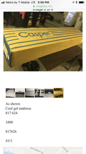 Casper queen bed foundation for Sale in Fort Worth, TX