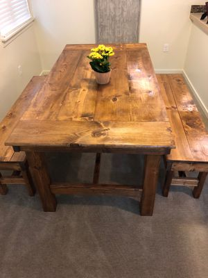 Custom Farmhouse Table and Benches for Sale in Beaverton, OR