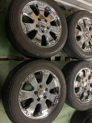 Toyota Tundra factory wheels and tires 20 inch for Sale in Mesquite, TX