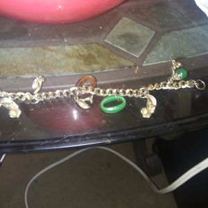 Brass charm bracelet wish charms can be removed for Sale in Long Beach, CA