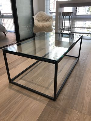 West Elm glass coffee table for Sale in Washington, DC