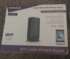 Netgear N300 Wifi Cable Modem Router with wireless N300 USB adapter for Sale in Columbus, OH