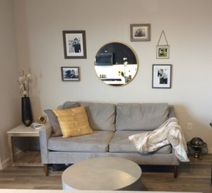 West Elm dove gray couch for Sale in Tampa, FL