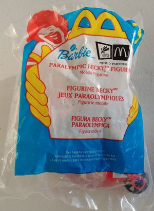 Paralympic Becky McDonald's Barbie Happy Meal Toy 2000 SEALED for Sale in Las Vegas, NV