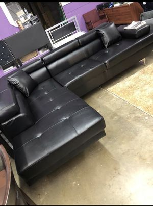 Turn on the living room sectional leather finance available 1486 West Buckingham RD Garland, TX 75042 for Sale in Garland, TX