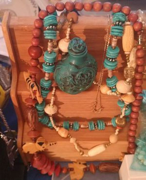 Tons of jewelry for women turquoise blown glass pcs for necklaces rings bracelets etc for Sale in Oklahoma City, OK