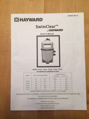 Pool Filter- Hayward for Sale in North Reading, MA