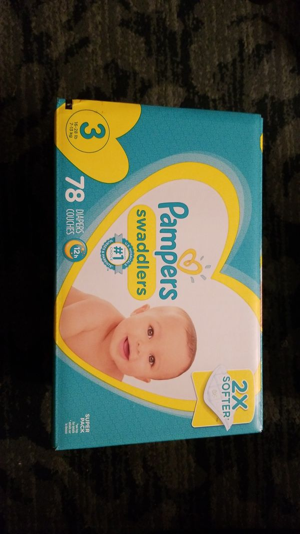 Pampers swaddlers diapers size 3 78ct.