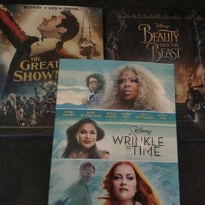 Bluray DVD LOT Beauty Beast Wrinkle Time Greatest Showman Special Edit for Sale in Brooklyn, NY