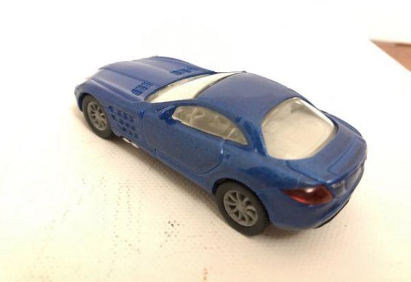 """DieCast Siku Mercedes SLR MClaren in Blue car is 3,5"""" long real riders tiers"""