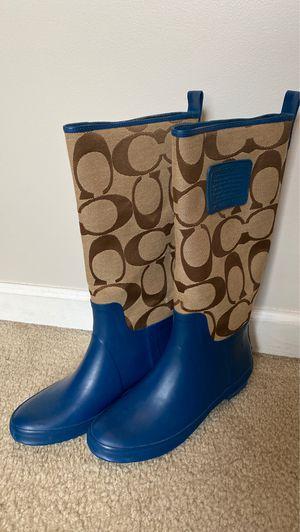 Coach Rainboots - Size 8 for Sale in Marietta, GA