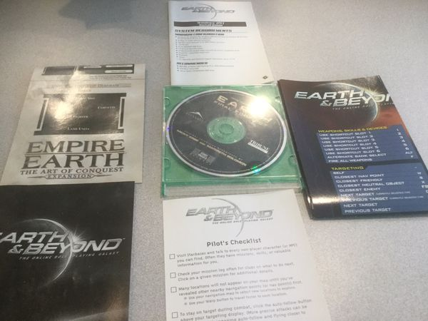 CD ROM Computer Game Earth & Beyond