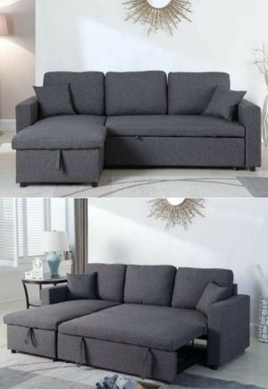 Reversible sectional sofa pullout bed(queen size) for Sale in Lakewood, CA
