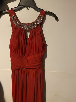 Elegant red dress. Only worn once then laundered and stored in clothing bag since. for Sale in Everett, WA