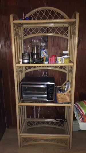 Rattan/ wicked shelf for Sale in Lawton, MI