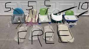 High Chairs and Booster Seats - FREE Trays! for Sale in Las Vegas, NV