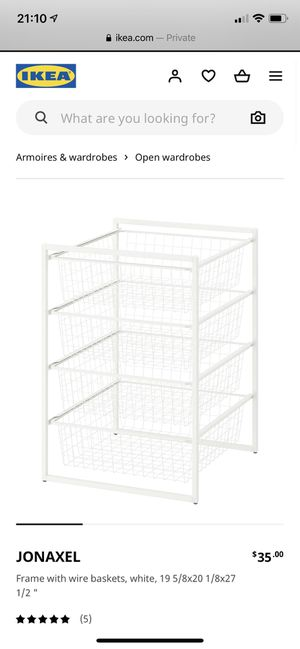 Wire baskets organizer drawers for Sale in Pembroke Pines, FL
