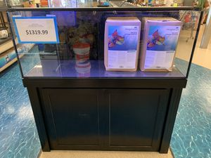 R&J 60g GLASS with sump in back. FLUVAL LED 59w for Sale in Fort Myers, FL