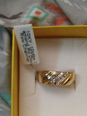 Solid 10kt gold mens diamond band for Sale in Fort Myers, FL