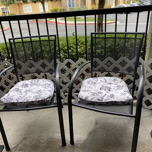 Two Metal Chairs w/ Seat Cushions for Sale in San Diego, CA