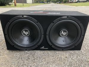 AudioPipe 12' Subs w Box and Amp. 1000 watt subs-250 watt amp for Sale in Henderson, KY