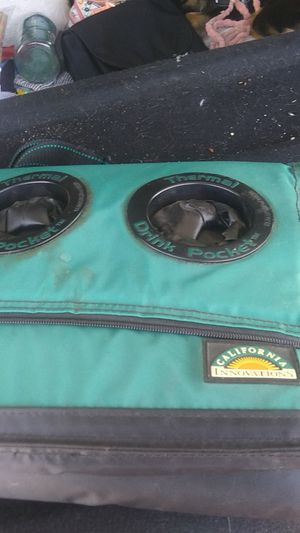 Brand new cooler with cup holders keeps your drinks cold for Sale in Riverside, CA