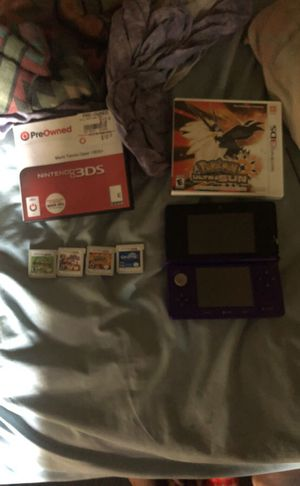 3ds with 4 games brand new open and played once for Sale in Alexandria, VA