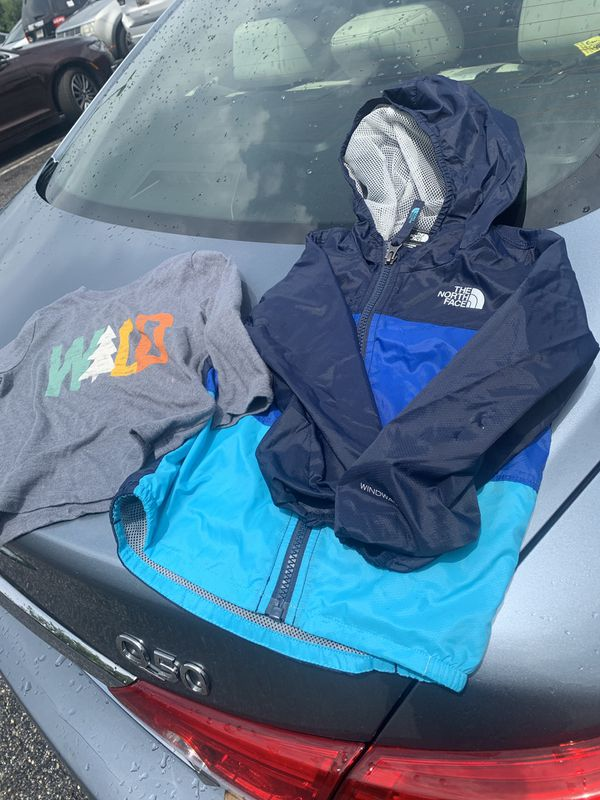 18-24 month north face wind jacket and long sleeve shirt
