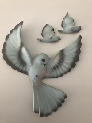 Vintage Freeman McFarlin Bluebirds Family Wall Han