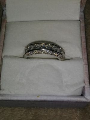 Sterling silver diamond beget ring size 7 for Sale in Los Angeles, CA