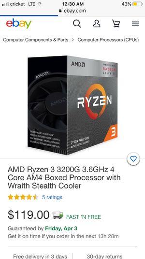 AMD Ryzen 3 3200G for Sale in Sacramento, CA