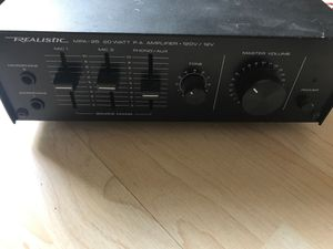 Realistic MPA-25 20W PA Power Amplifier Amp Mic Mixer for Sale in Columbus, OH