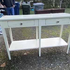 Solid Wood Entryway Or Vanity Desk for Sale in Renton, WA