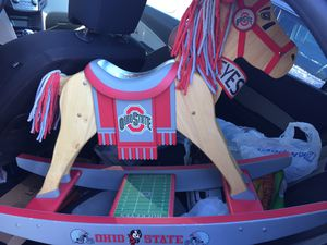 Rare Ohio State Wood Rocking Horse by Danbury Mint for Sale in Ashley, OH