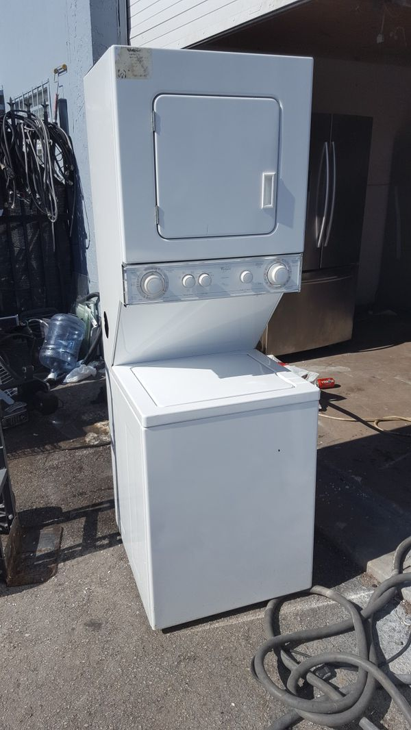 "24"" White Stackable Washer & Dryer Stackable"