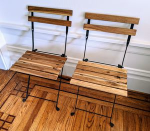Wooden folding chairs for Sale in San Francisco, CA