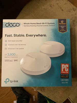 New TP Link Deco M5 WiFi mesh router 2 hubs in this one for Sale in Germantown, MD