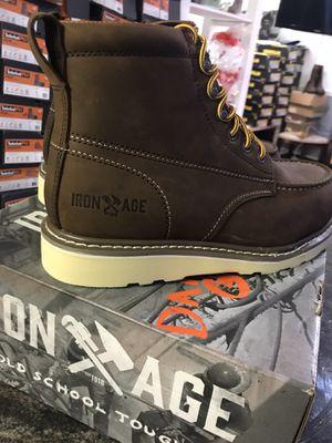 IRON AGE// work boots// steel toe //hablo español//size available (7w,m)7.5w,m)8w,m)8.5m)10.5w,m)11w,m) for Sale in Skokie, IL