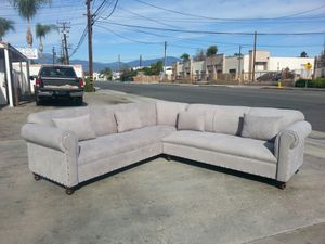 NEW 9X9FT ANNAPOLIS LIGG GREY FABRIC SECTIONAL COUCHES for Sale in Indio, CA