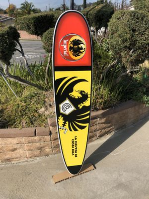 "Imperial Costa Rica Beer Bar Wood Surfboard ""New"" mirror for Sale in Monterey Park, CA"