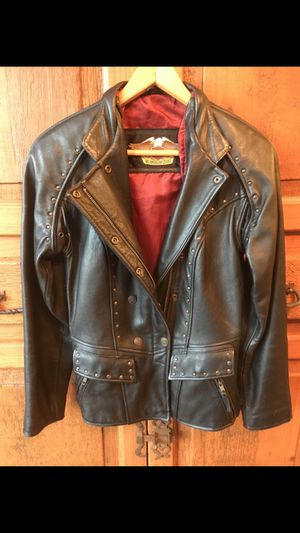 Harley-Davidson ladies leather biker jacket - $300 for Sale in Morgantown, WV