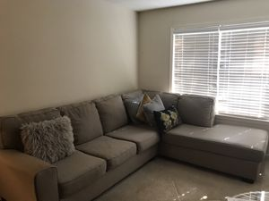 Gray 2pc Sectional Couch for Sale in Atlanta, GA