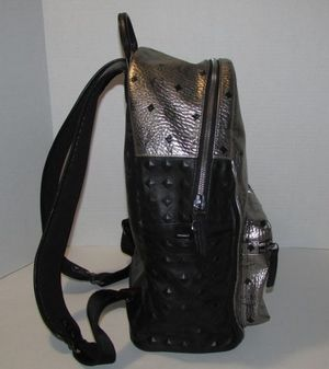 MCM Munich Lion Hard To Find Black Silver Leather Backpack for Sale in Fort Washington, MD