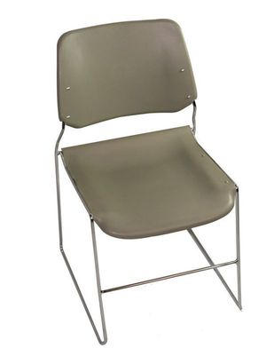 Modern Grey wide seat and back stacking chair on chrome frame - Very Comfortable - Great for office/home office/home school / desk chair-NEW - more a for Sale in Ontario, CA