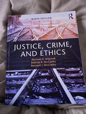 Justice,Crime, and Ethics 9th edition for Sale in Baton Rouge, LA