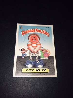 """Vintage 1986 Garbage Pail Kids """"Coy Roy"""". Card for Sale in Victorville, CA"""
